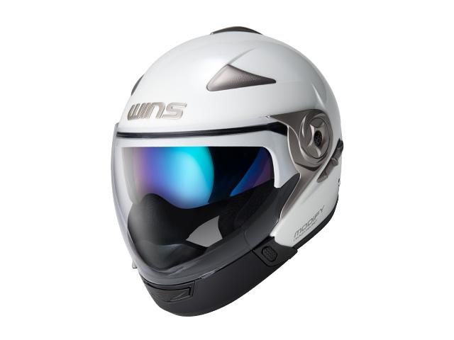 ウインズ(WINS)ジェット+アゴつきヘルメット MODIFY(モディファイ) アドバンス (パールホワイト・L)
