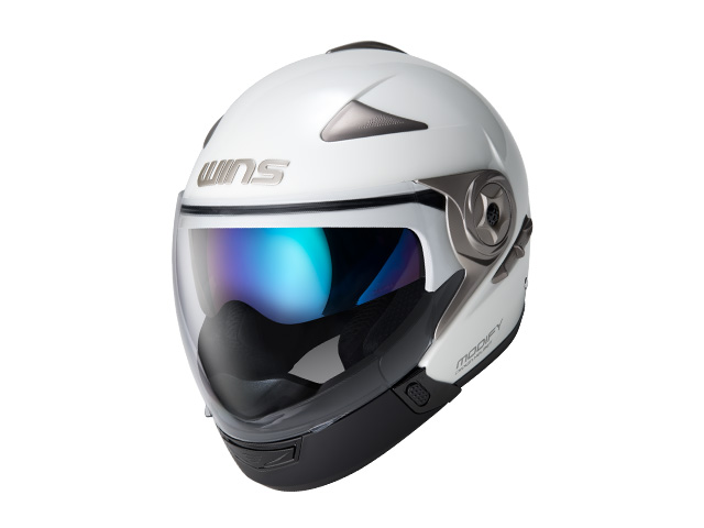 ウインズ(WINS)ジェット+アゴつきヘルメット MODIFY(モディファイ) アドバンス (パールホワイト・XL)