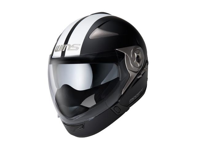 ウインズ(WINS)ジェット+アゴつきヘルメット MODIFY(モディファイ) アドバンス ライン (マットブラック×ホワイト・L)