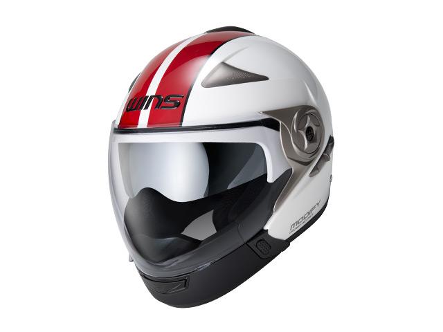 ウインズ(WINS)ジェット+アゴつきヘルメット MODIFY(モディファイ) アドバンス ライン (ホワイト×レッド・L)