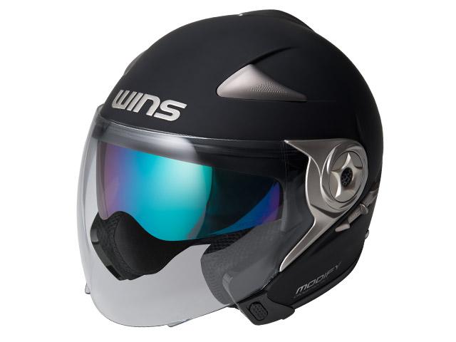 ウインズ(WINS)ジェット+アゴつきヘルメット MODIFY(モディファイ) JET (マットブラック・XL)