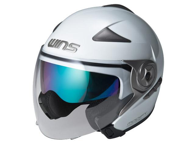 ウインズ(WINS)ジェット+アゴつきヘルメット MODIFY(モディファイ) JET (パールホワイト・L)