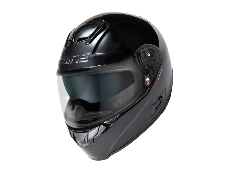 ウインズ(WINS)フルフェイスヘルメット FF-CONFORT(コンフォート) (メタリックブラック・L)