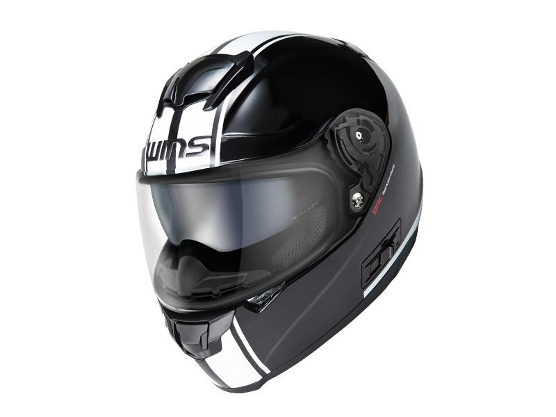 ウインズ(WINS)フルフェイスヘルメット FF-CONFORT(コンフォート) ライン (ブラック×ホワイト・L)