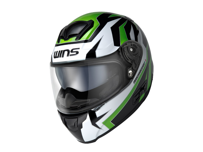 ウインズ(WINS)フルフェイスヘルメット FF-CONFORT(コンフォート) グラフィック(TANATOS) (グリーン・L)