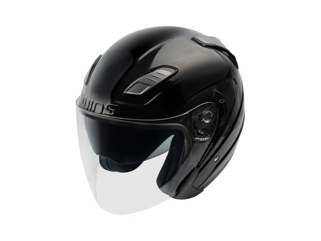 ウインズ(WINS)ジェットヘルメット SHADE(シェード)(ソリッド) (メタリックブラック・M/L)