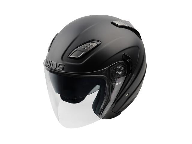 ウインズ(WINS)ジェットヘルメット SHADE(シェード)(ソリッド) (マットブラック・M/L)