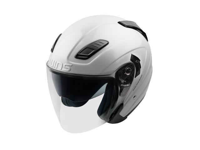 ウインズ(WINS)ジェットヘルメット SHADE(シェード)(ソリッド) (パールホワイト・L/XL)