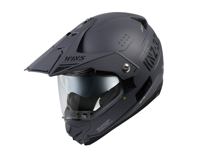 ウインズ(WINS)オフロードインナーバイザーつきヘルメット X-ROAD グラフィック(COMBAT) (マットアーミーグレー・L)