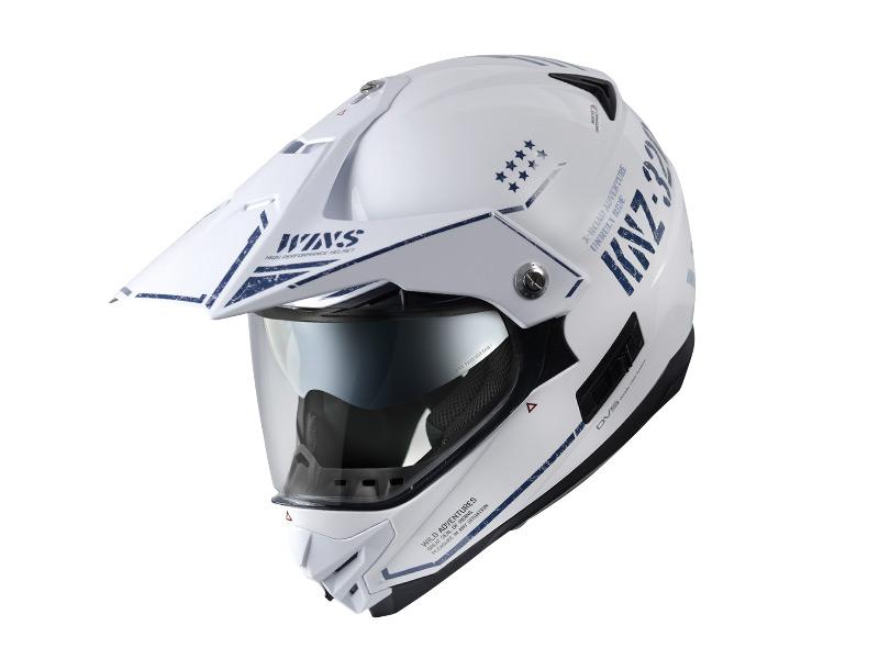ウインズ(WINS)オフロードインナーバイザーつきヘルメット X-ROAD グラフィック(COMBAT) (セラミックホワイト【ツヤあり】・L)