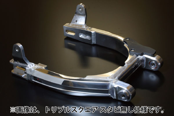 Gクラフト(G-Craft)スーパーワイドスイングアームローコストトリプルスクエアパイプ10cmロングツインショック/モンキー/ゴリラ(90557)