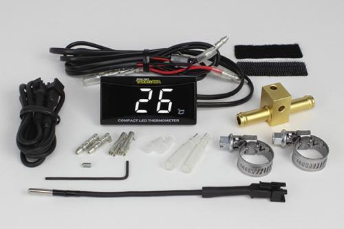 SP武川(タケガワ)コンパクトLEDサーモメーター 油温計アダプターΦ8付きセット(05-07-0008)