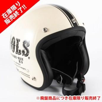 72JAM(ジャムテックジャパン) ジェットヘルメットCOOLS HUNGRY MAN(クールスハングリーマン) XLサイズ(アイボリー) [HM-03L]