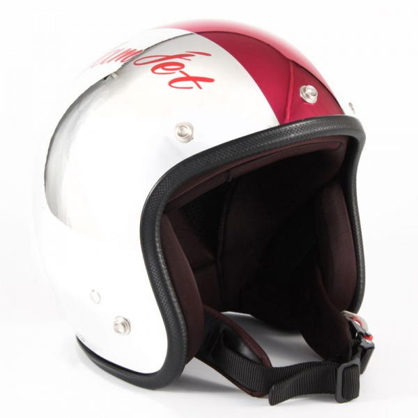 72JAM(ジャムテックジャパン) ジェットヘルメット72JAM JET CHROMES CM/RD(レッド) [JCP-07]