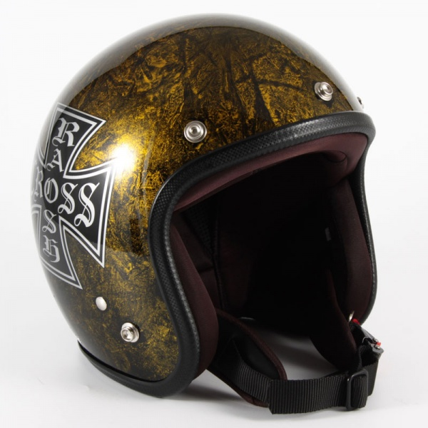 72JAM(ジャムテックジャパン) ジェットヘルメット72JAM JET RASH CROSS(ゴールド) [JCP-13]