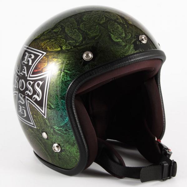 72JAM(ジャムテックジャパン) ジェットヘルメット72JAM JET RASH CROSS(レインボー) [JCP-14]