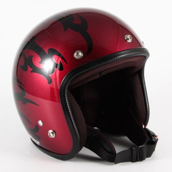 72JAM(ジャムテックジャパン) ジェットヘルメット72JAM JET TRIBAL(レッド) [JCP-22]