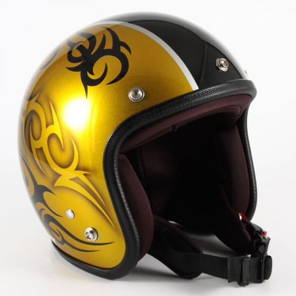 72JAM(ジャムテックジャパン) ジェットヘルメット72JAM JET TRIBAL(ゴールド/ブラックライン) [JCP-26]
