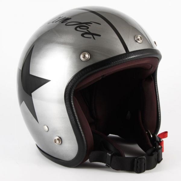 72JAM(ジャムテックジャパン) ジェットヘルメット72JAM JET IRON STAR(シルバー) [JCP-30]