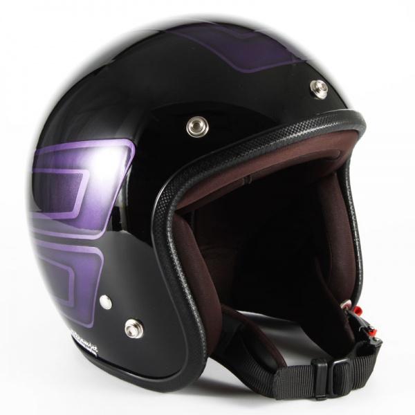 72JAM(ジャムテックジャパン) ジェットヘルメット72JAM JET SCALLOP(パープル) [JCP-33]