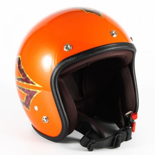 72JAM(ジャムテックジャパン) ジェットヘルメット72JAM JET Spindle(サンセットオレンジ) [JCP-37]