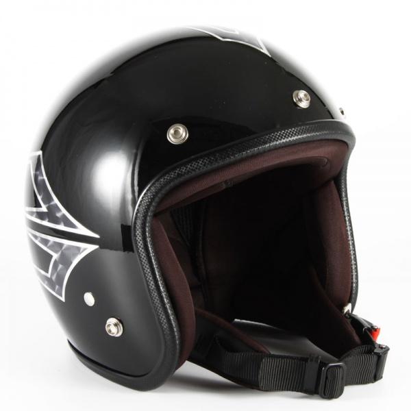 72JAM(ジャムテックジャパン) ジェットヘルメット72JAM JET Spindle(ミッドナイトブラック) [JCP-39]