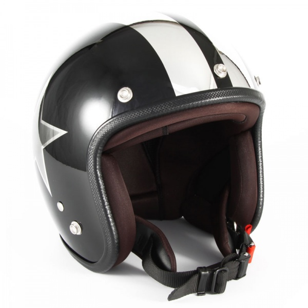 72JAM(ジャムテックジャパン) ジェットヘルメット72JAM JET BLACK STAR(ブラック) [JCP-50]