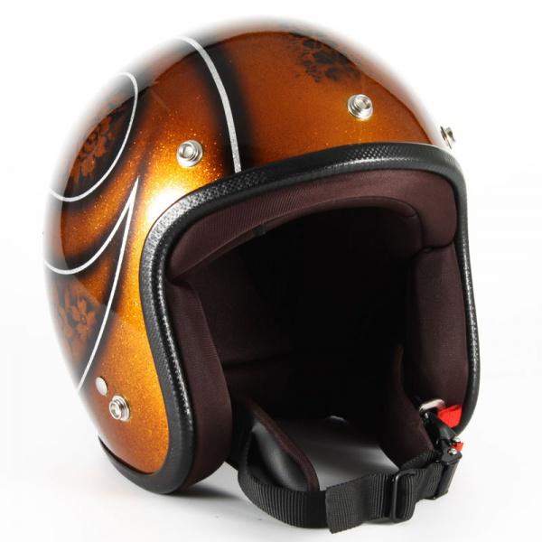 72JAM(ジャムテックジャパン) ジェットヘルメット72JAM JET ROSA レディース(ブラウン) [JCP-53]