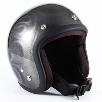 72JAM(ジャムテックジャパン) ジェットヘルメット72JAM JET GHOST FLAME(シルバー) [JG-14]
