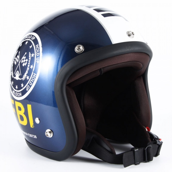 72JAM(ジャムテックジャパン) ジェットヘルメット72JAM JET F.B.I.(ブラック) [JJ-02B]
