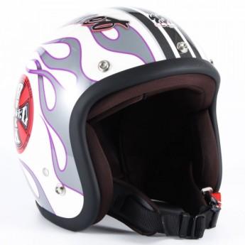 72JAM(ジャムテックジャパン) ジェットヘルメット72JAM JET ROCK&ROLL(ホワイト) [JJ-07]