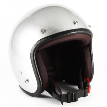 72JAM(ジャムテックジャパン) ジェットヘルメットJP MONO ヘルメット XLサイズ(シルバーフレーク) [JPF-4L]