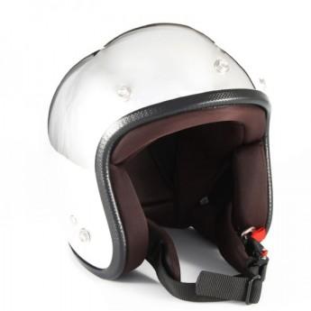 72JAM(ジャムテックジャパン) ジェットヘルメットJP MONO ヘルメット XLサイズ(メッキ) [JPM-3L]