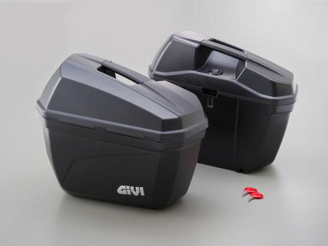 デイトナ(DAYTONA)ジビ(GIVI) E22ND 無塗装ブラック 左右1セット[90668]