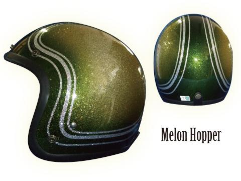 ヒートグループ CP-7 ジェットヘルメット GLITTER JET (メロンホッパー/フリー)