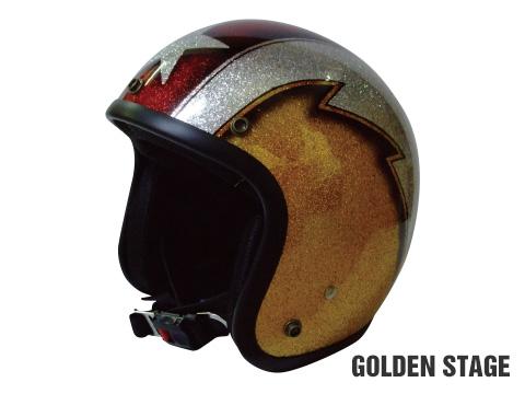 ヒートグループ CP-15 ジェットヘルメット GLITTER JET (GoldState/フリー)