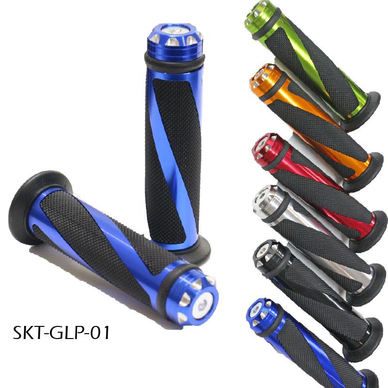 人気のアルミ ラバー製ハンドルグリップ 在庫有 ラバー製 バイク用ハンドルグリップ 8 SKT-GLP-01 おしゃれ 7 汎用 メーカー在庫限り品 φ22.2mm