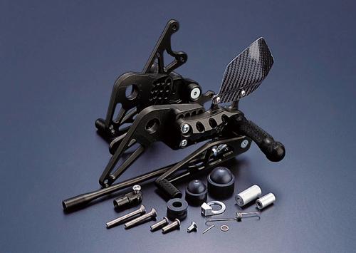 ギルズツーリング (長期納期品)バックステップ ブラック (プレッシャーSW付キ) VTR1000F 97-05(H07B)