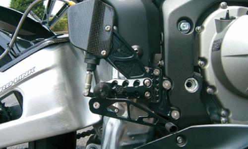 ギルズツーリング (長期納期品)バックステップ ブラック (プレッシャーSW付キ) CBR600RR 05-06(H09SB)