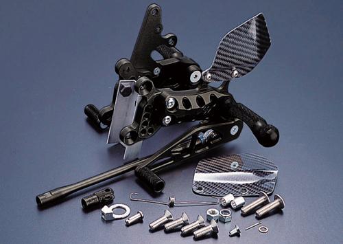 ギルズツーリング (長期納期品) バックステップ ブラック (プレッシャーSW付キ) ZX-9R 98-01/ZX-6R 98-02(K01B)