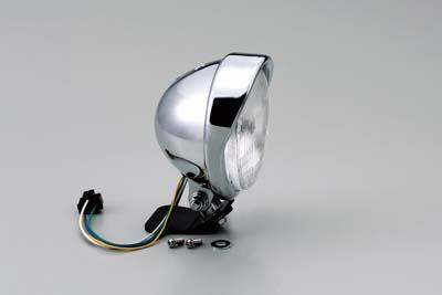 ハリケーン HA5630-01 5 5ベーツバイザーTYPEヘッドライトkit クロームメッキ