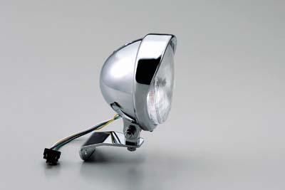 ハリケーン HA5632 5 5ベーツバイザーTYPEヘッドライトkit クロームメッキ SR400( FI)_SR400/500(~'88/8~'08)