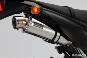 <title>ビームス BEAMS R-EVO [正規販売店] ステンレスサイレンサー マフラー D-トラッカー125 B412-53-008</title>