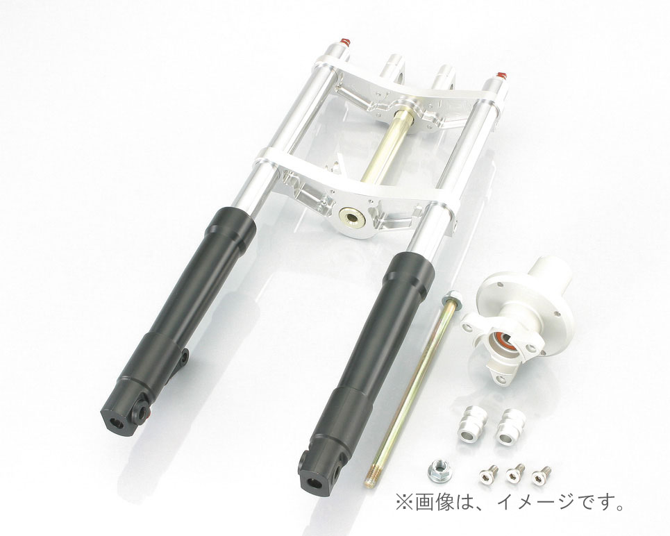 キタコ(KITACO)FフォークKIT(タイプX)WD モンキー(30-40/BLACK)ハブ=シルバー(500-1137320)