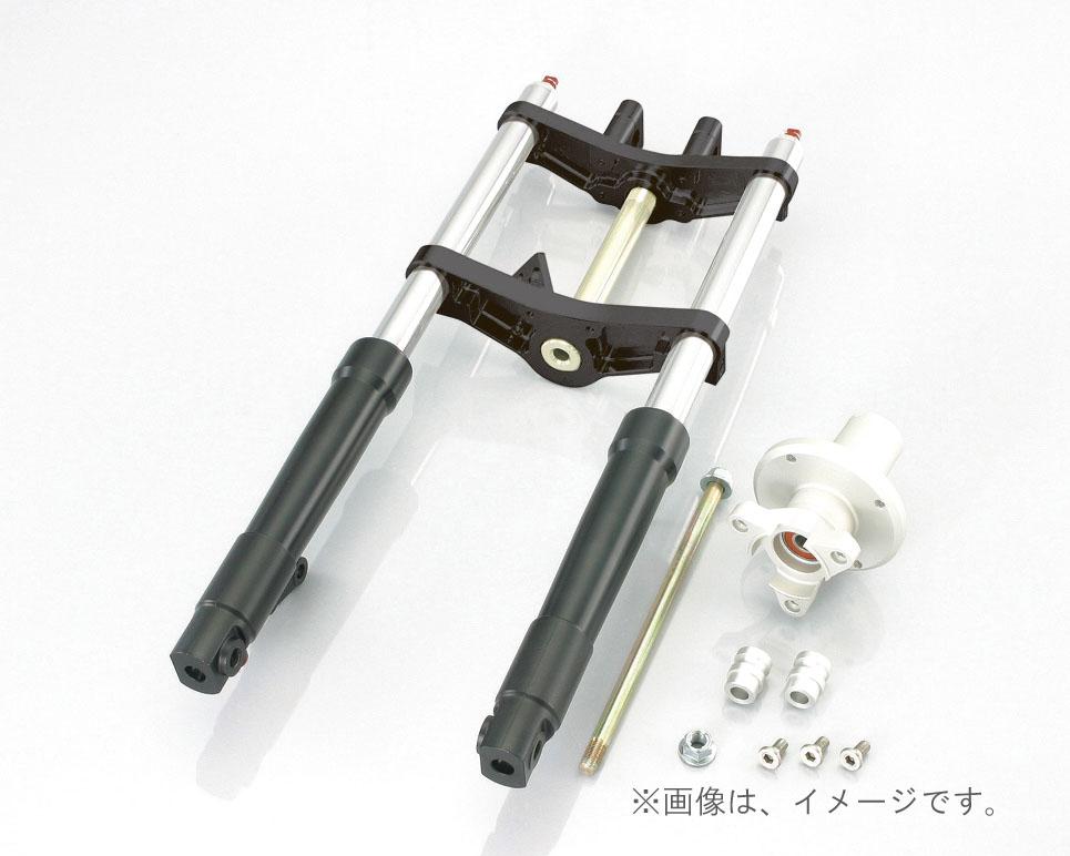 キタコ(KITACO)FフォークKIT(タイプX)WD モンキー(30-40/クロ/クロ)ハブ=シルバー(500-1137340)