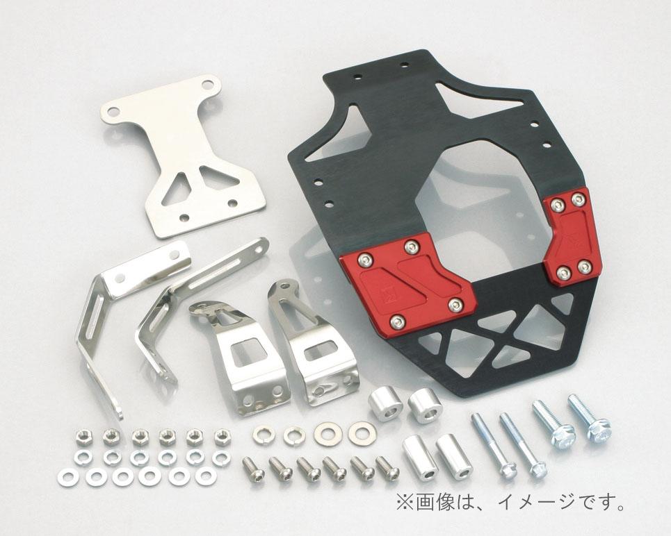 キタコ(KITACO)スキッドプレート(ブラック/レッド) GROM(633-1432030)