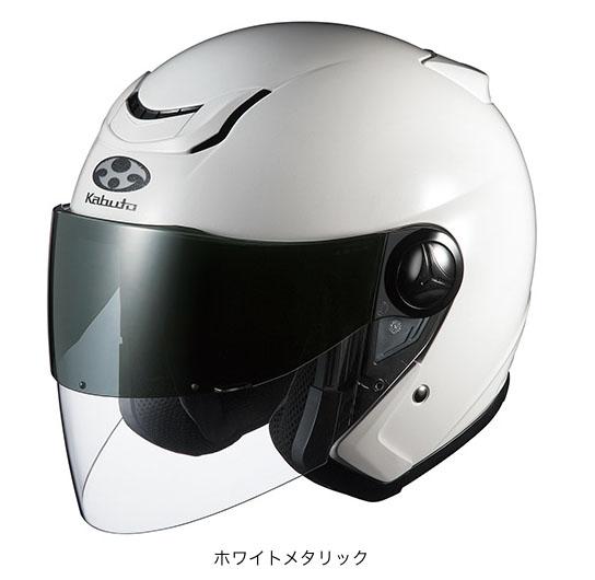 OGK(オージーケー) スポーツジェットヘルメット AFFID(アフィード)・J (ホワイトメタリック/M(57~58cm))