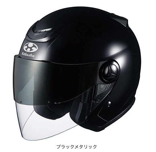 OGK(オージーケー) スポーツジェットヘルメット AFFID(アフィード)・J (ブラックメタリック/M(57~58cm))