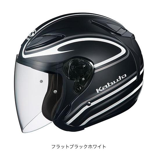 OGK(オージーケー) スポーツジェットヘルメット AVAND(アバンド)・2 ステイド (フラットブラックホワイト/L(59~60cm未満))