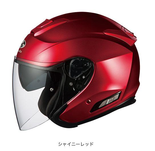 OGK(オージーケー) スポーツジェットヘルメット ASAGI(アサギ) (シャイニーレッド/M(57~58cm))